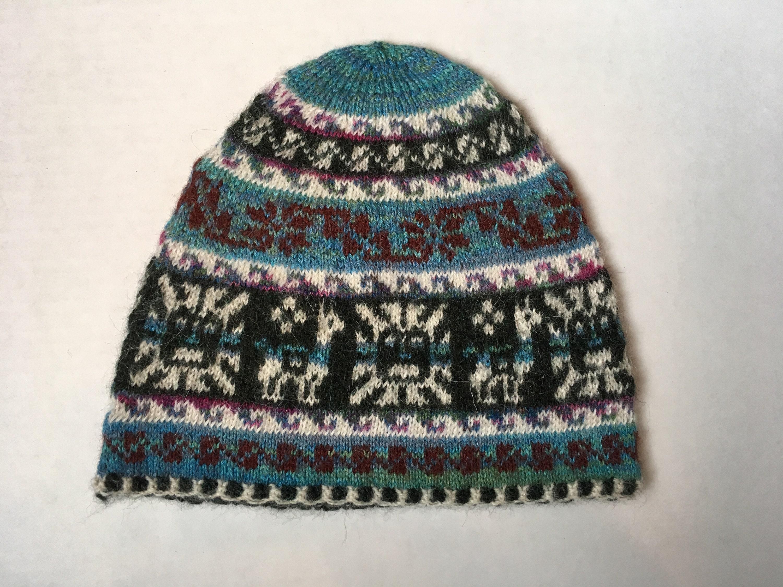 fee2d8f7fcb 100% Baby Alpaca hand knit hat
