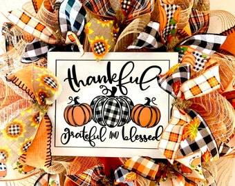 DIY Wreath Kit Fall Autumn Thankful Grateful Blessed Wreath Kit