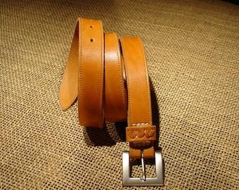 LEATHER HANDMADE BELT / Leather Belt / Belt Handmade / Belt Accessories / Belt Men / Belt Woman / Quality Belt / Nature Leather Belt.