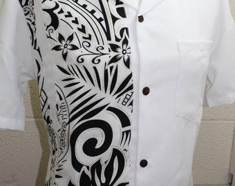 Men's Formal Polynesian Tribal Shirt