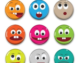 Emoticon Magnet Emoticon Magnets Refrigerator Magnets Etsy