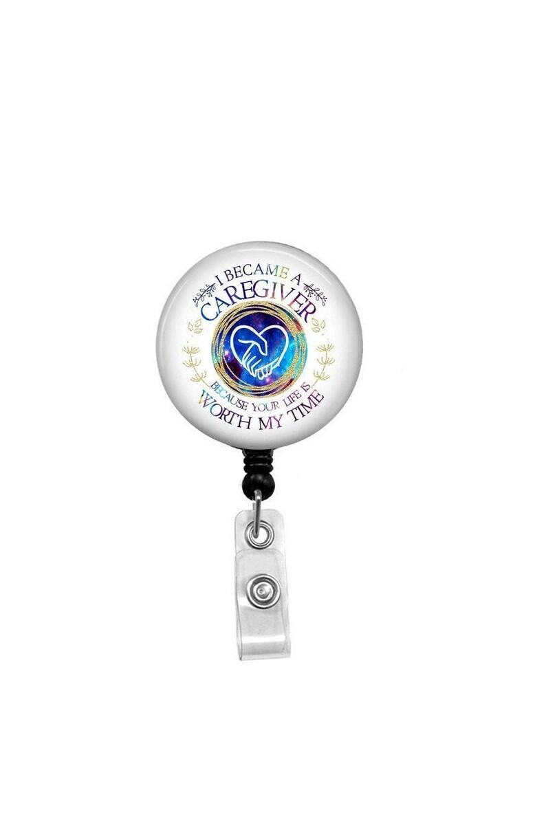 Badge Reels Id Badge Retractable Badge Reel Hospital Worker Badge Mental Health Badge Nurse Belt Clip Social Worker ID Badge