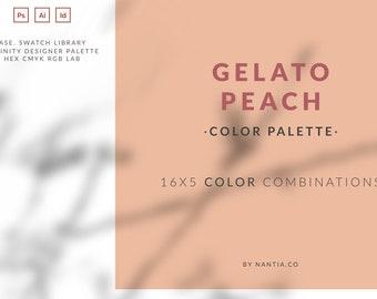 Peach Gelato Color Palette collection