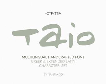 Taio Handwritten Greek Font