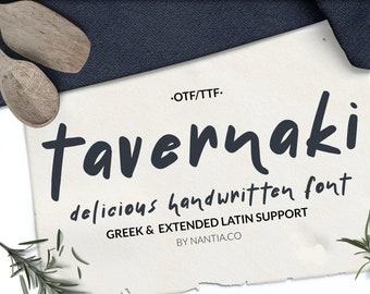 Tavernaki Handwritten Greek Font