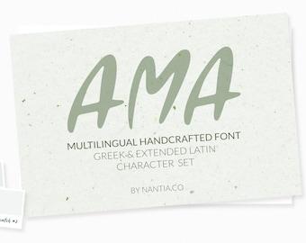 AMA Greek and Latin Font