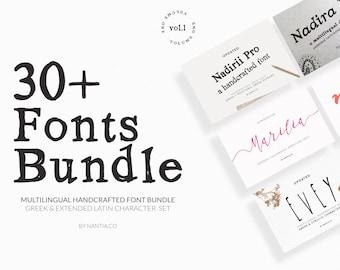 font bundle, handcrafted, digital, greek font, wedding invitations, logotypes, graphic design, Nadirii font, serif font