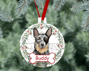 Australian Cattle Dog Ornament  Personalize with Name Great as Christmas Gift!