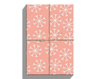 Snowflakes Wrapping Paper Christmas, Gift Wrap Sheets, 20 by 29 Inches, 5 Sheets