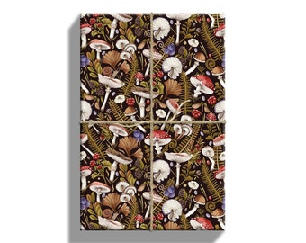 Woodland Mushrooms Wrapping Paper, Gift Wrap Sheets, 20 by 29 Inches, 5 Sheets