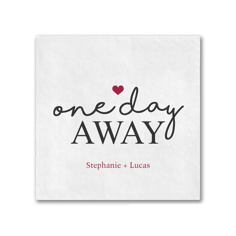 Wedding Rehearsal Dinner Personalized Cocktail Napkins One image 0