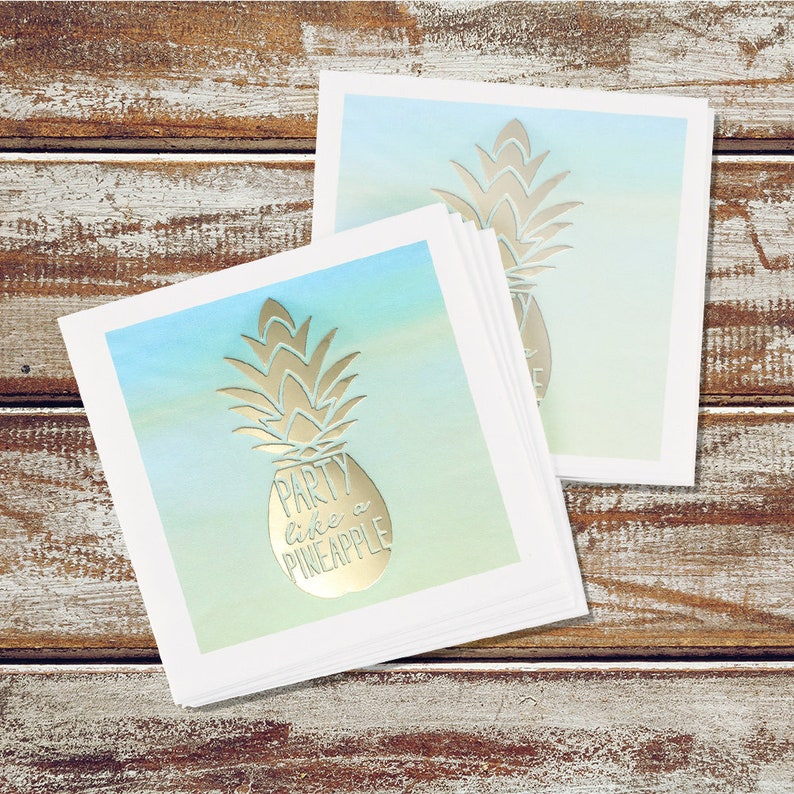 Party Like A Pineapple Beverage Napkins image 0