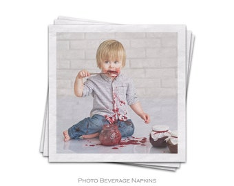 Photo Beverage Napkins For A Birthday Party