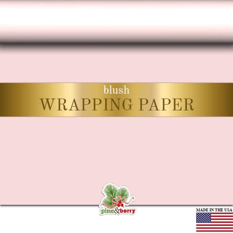 Blush Pink Wrapping Paper   Custom Gift Wrap In Matte Blush image 0