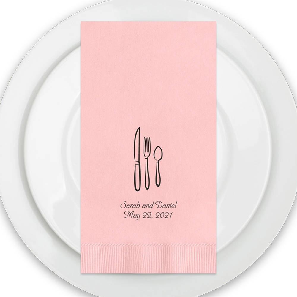 Personalized Dinner Napkins Wedding Blush Dinner Napkins
