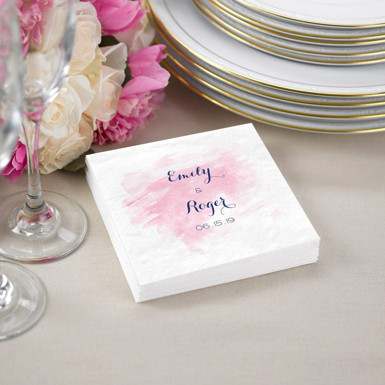Wedding Cocktail Napkins.Wedding Cocktail Napkins Napkins Personalized Watercolor Cocktail Napkins For Wedding 3 Ply Paper Napkins