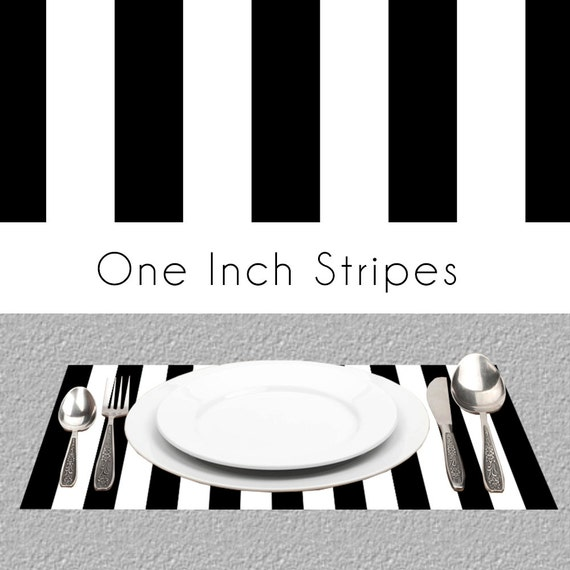 Black White Stripes Paper Placemats Bw Paper Placemats Book Etsy
