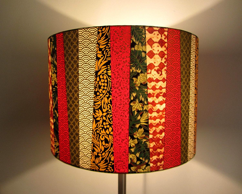 abat jour cr ation jungle en papier japonais et etsy. Black Bedroom Furniture Sets. Home Design Ideas