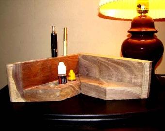 Walnut Vape & Juice Caddy, Large 3-3-3 Ecig Holder