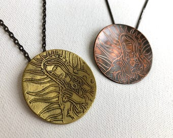 Virgin de Guadalupe pendants