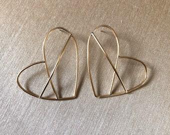 Sweet Heart dimensional earrings