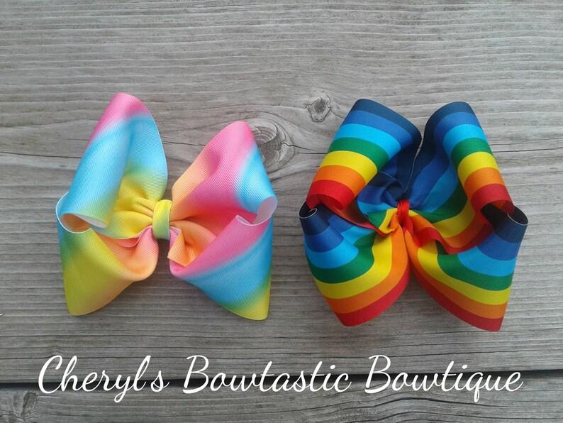 JoJo Siwa Turqouise Holographic Mermaid Hair Bow Dance Hair Bows Cheerleader Bow