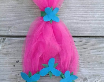 Poppy Headband & Dress, Poppy Troll headband, Troll party ideas, Poppy Troll Birthday, Troll headband, DJ Suki headband, Troll Birthday