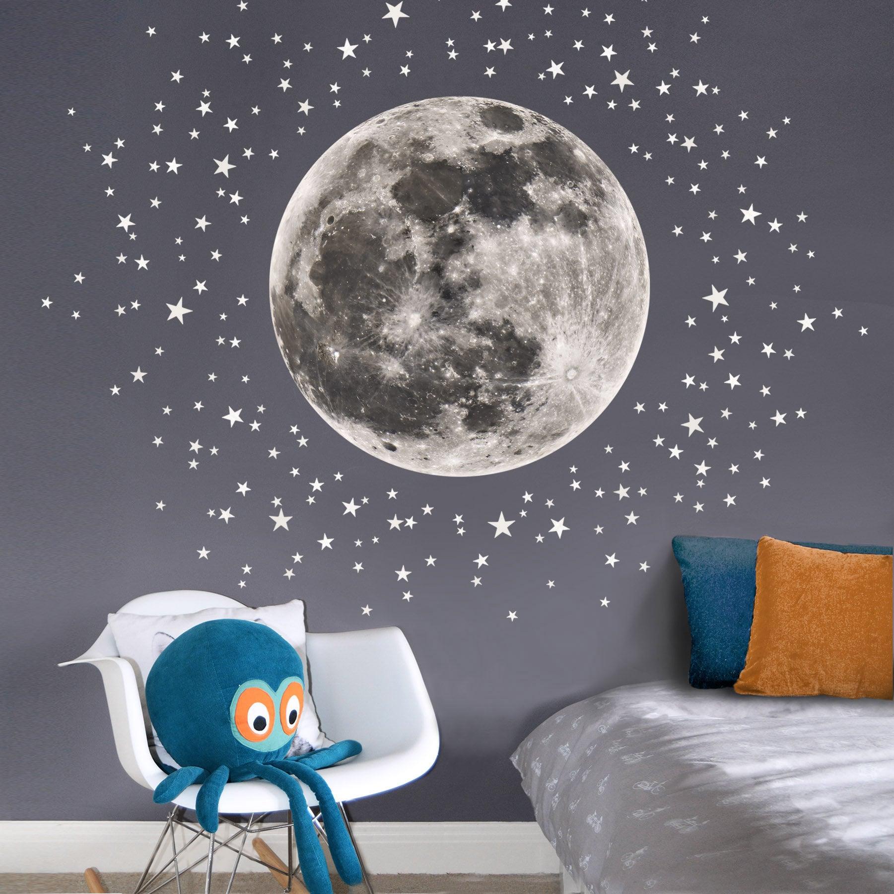 Details about  /Happy Moon Dream Wall Stickers Kids Bedroom Babies Art Cute Girls Nursery WA012