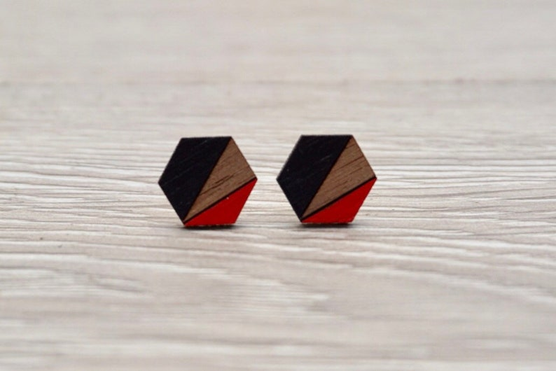 Geometric Earrings  Geometric Stud Earrings  Minimalist image 0