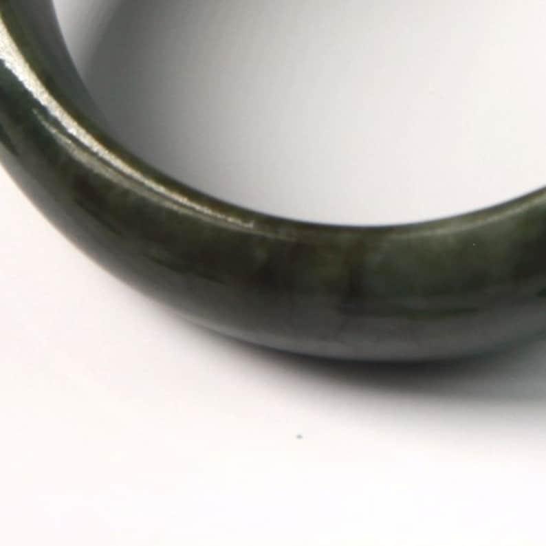 Jade Bangle size 55 Burma Jadeite 2 1164