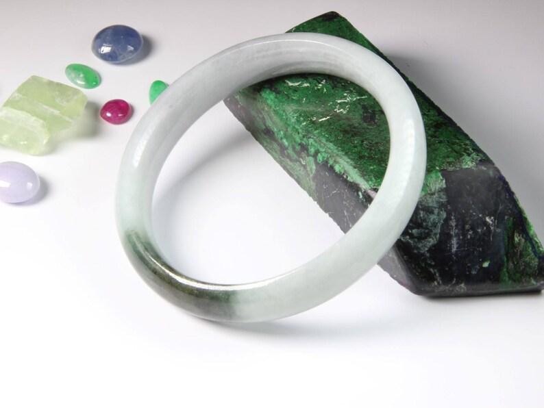 2 1364 Jade Bangle size 56 Burma Jadeite