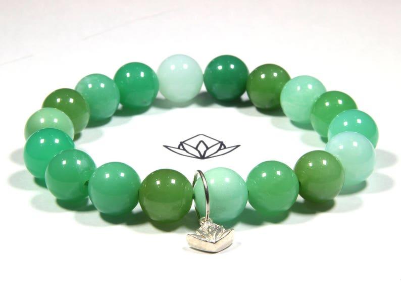 Rare Beads Chrysoprase 18 x 11mm Beads 22g Wrist 6 34 Stretch Bracelet