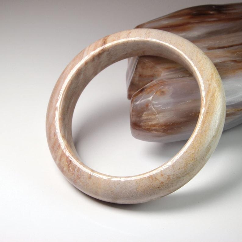 2 1332 classic D cut burma fossilized wood bangle petrified wood bangle 61