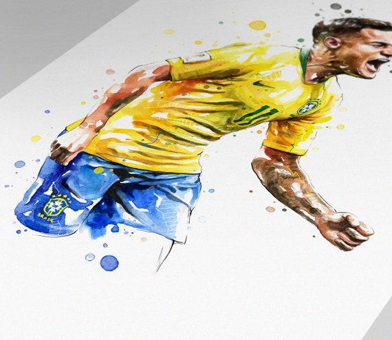 Paint Brazil Flag Wall Clock World Cup 2014