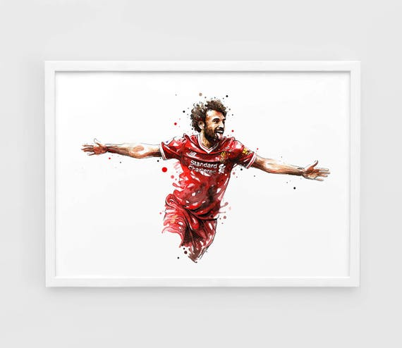 Mohamed Salah Liverpool Wall Art Print Poster of the