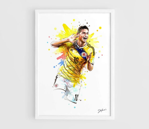 James Rodriguez Colombia National Football Team Fifa World Etsy
