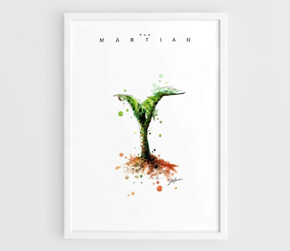The Martian Movie Alternate Posters 2015 Bring Him Home A3 Wall Art Prints Posters Of The Original Watercolor Painting