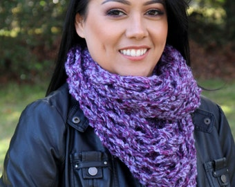 Chunky  Scarf - Infinity Scarf Knit - Knitted Infinity Scarf - Arm Knit Scarf - Hand Knit Scarf - Circle Scarf - Handmade Scarf