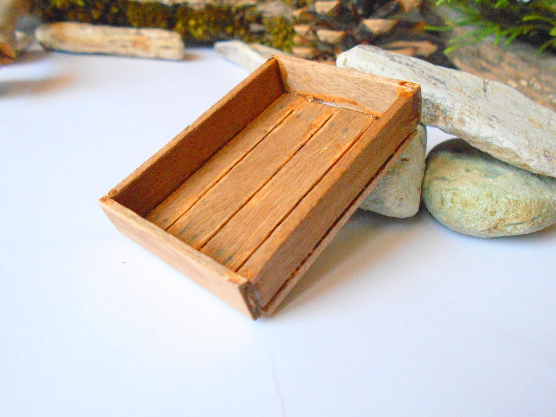 Miniatur aus Holz Kiste-braune Holz Puppenhaus Zubehör-1/12 | Etsy