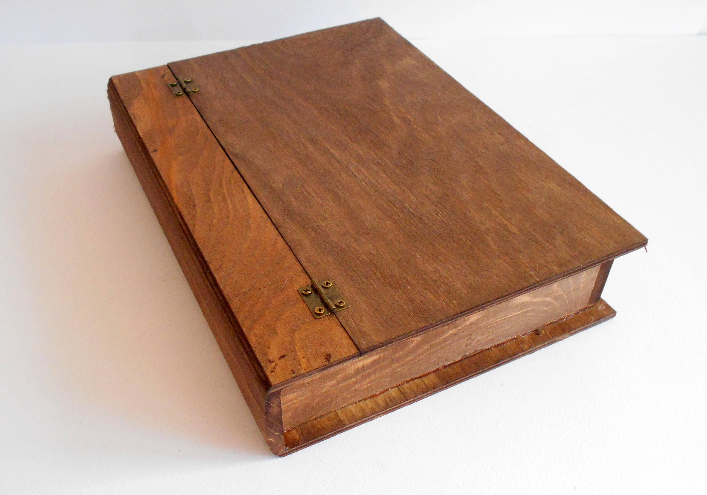 Holzkiste Buch Box Kiefer Holz für Buch-Andenken Schmuck | Etsy