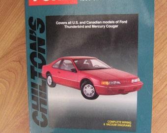Auto repair manual etsy chiltons book repair manual 1983 92 mercury thunderbird cougar auto care publicscrutiny Images