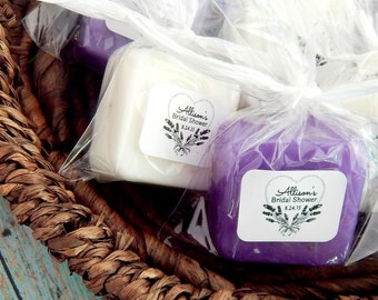 Lavender Wedding Favors Soap Favors Lavender Bridal Shower Favors Lavender Baby Shower Favors Floral Spring Shower Favors Personalized Favor