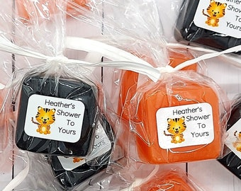 Tiger Baby Shower Favor Soaps, Safari Animals, Girl, Its a Boy Baby Shower Themes, Jungle Birthday Party Favor, Mini Soap Favors for Guest
