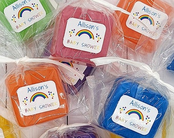 Colorful Rainbow Baby Shower Favors, Rainbow Soap Favor, Mini Party Favors, Unique Gift for Guests, Baby Sprinkle Favors for Boy or Girl