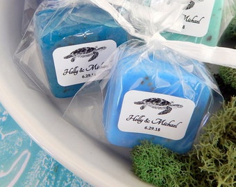 Sea Turtle Wedding Favors Guest Soap Favor Bridal Shower Turtle Favor Baby Shower Birthday Favor Beach Ocean Seaside Nautical Theme Wedding