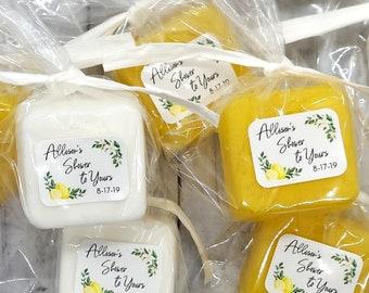 Lemon Bridal Shower Favors, Lemon Soap Favors, Lemon Theme Bridal Party Favors, Summer Bridal Shower Favors, Custom Thank You Gift for Guest