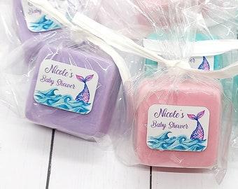 Mermaid Tail Soap Favors, Mermaid Theme Birthday Party, Little Mermaid Baby Shower Favor, Mermaid Soap Party Favors, Unique Baby Shower Idea