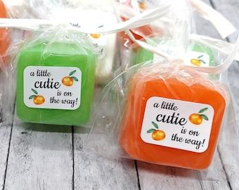 Little Cutie Baby Shower Favor, Little Cutie Soap Party Favor, Unique Baby Shower Theme Idea, Citrus, Mandarin Orange, Tangerine, Clementine