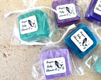 Mermaid Baby Shower Favors Soap Mermaid Theme Little Mermaid Under the Sea Ocean Mermaid Birthday Party Favors Baby Sprinkle Wedding Favors