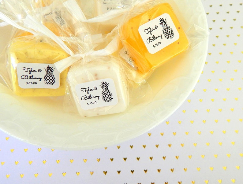 Pineapple Wedding Favors for Guests in BULK  Soap Favors  image 0